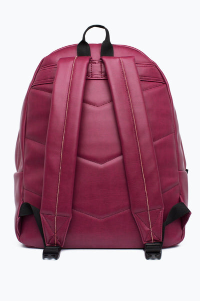 HYPE Burgundy Embossed Script Backpack-Backpack-HYPE.-Weightless.no