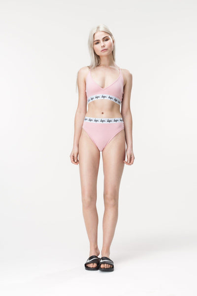 HYPE Dusty Pink Taped Women's Pant-Truse-HYPE.-Weightless.no