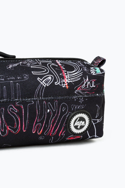 HYPE Fall17 Multi Inverted Scribble Pencil Case-Pencil Case-HYPE.-Weightless.no