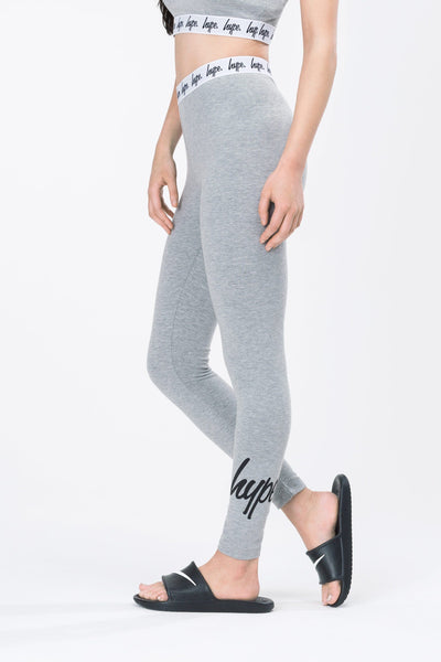 HYPE Grey Taped Women's Leggings-Leggings-HYPE.-Weightless.no