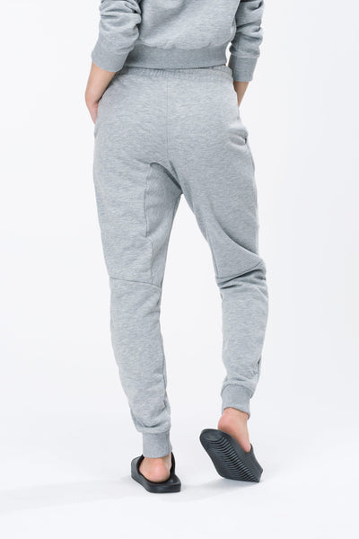 HYPE Grey/Black Hype Script Women's Joggers-Joggers-HYPE.-Weightless.no