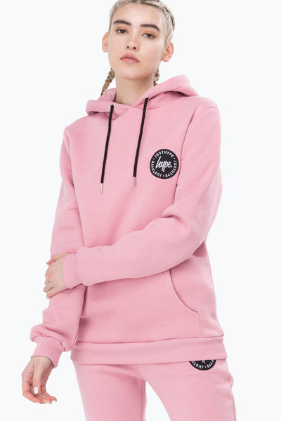HYPE Pink Crest Women's Pullover Hoodie-Pullover Hoodie-HYPE.-Weightless.no