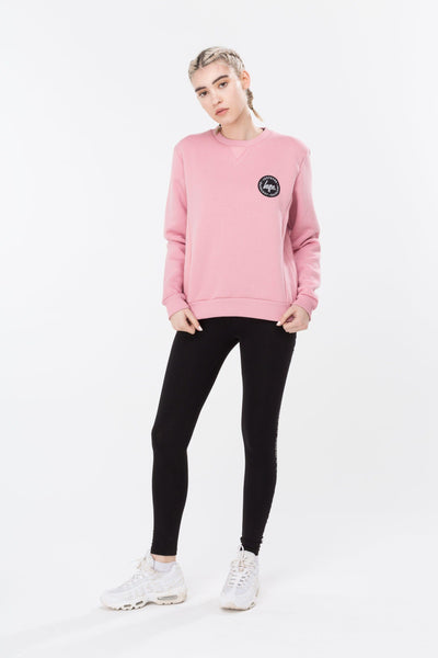 HYPE Pink Panel Women's Crewneck-Crewneck-HYPE.-Weightless.no