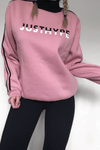 HYPE Pink/Black High Neck Sports Women's Crewneck-Crewneck-HYPE.-Weightless.no
