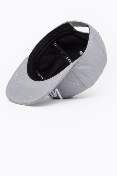 HYPE Reflective/White Quilted Reflective Snapback Hat-Snapback Hat-HYPE.-Weightless.no