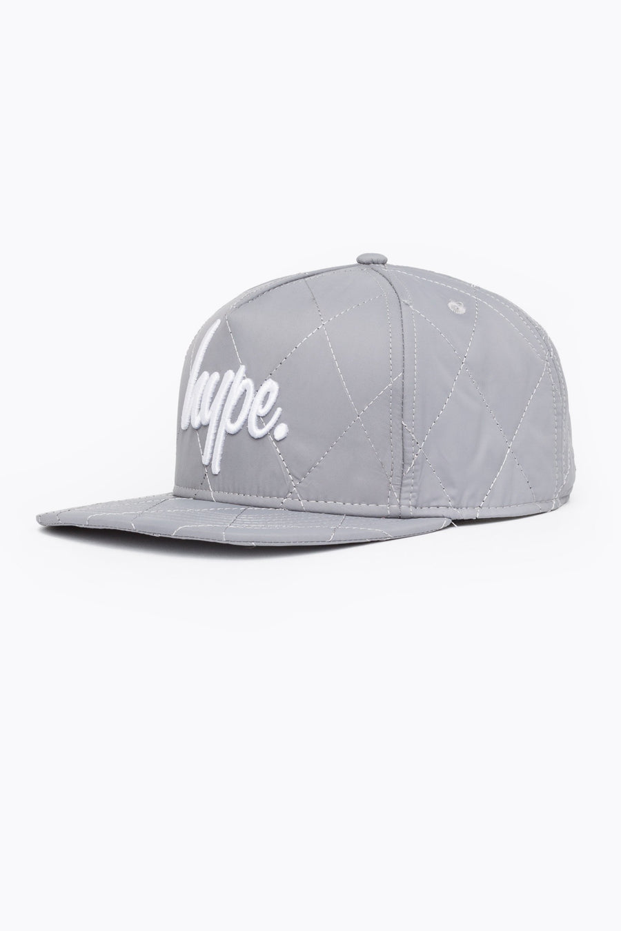 7eed73d866c HYPE Reflective White Quilted Reflective Snapback Hat-Snapback Hat-HYPE .-Weightless