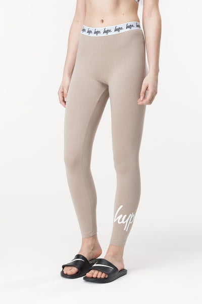 HYPE Sand Taped Women's Leggings-Leggings-HYPE.-Weightless.no