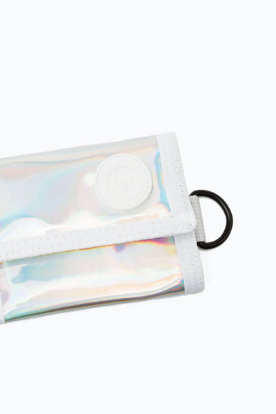 HYPE Silver Holographic Wallet-Wallet-HYPE.-Weightless.no