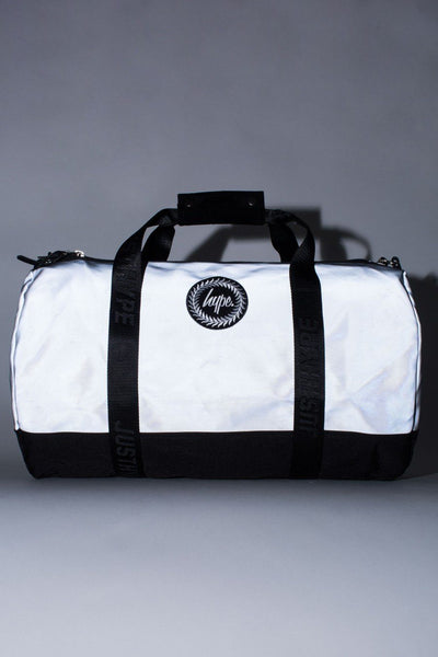 HYPE Silver Reflective Duffle Bag-Duffle Bag-HYPE.-Weightless.no