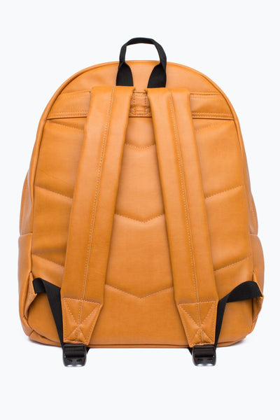 HYPE Tan Embossed Script Backpack-Backpack-HYPE.-Weightless.no