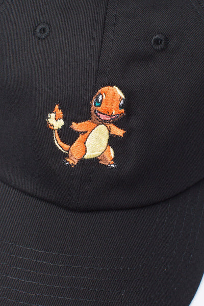 HYPE X Pokemon Black Charmander Dad Hat-Dad Hat-HYPE.-Weightless.no