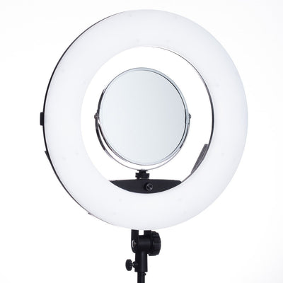 Lumipop - Vlog Ring Light & Vanity MIrror Liquorice - Komplett Kit med Stativ og Bordstativ-Vlog Lys-Lumi POP-Weightless.no