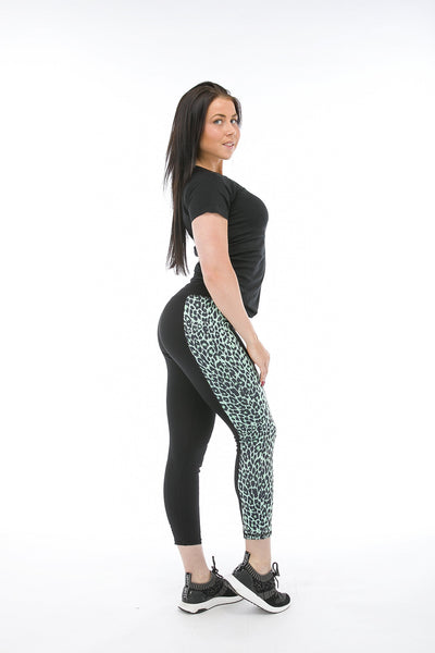 Superfit Ankle Tights Leopard Panel Mint-Tights-Freddy-Weightless.no