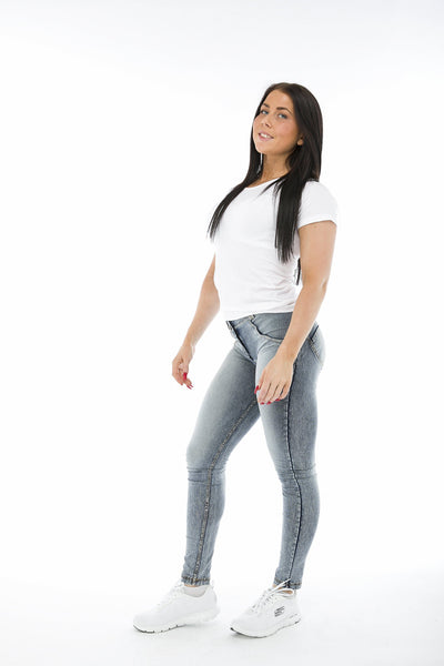 WR.UP® Shaping Jeans Skinny Mid Acid Wash-Jeans-Freddy-Weightless.no