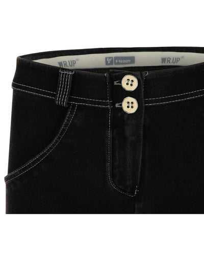 WR.UP® Shaping Jeans Skinny Mid Black + Grey Stitching-Jeans-Freddy-Weightless.no
