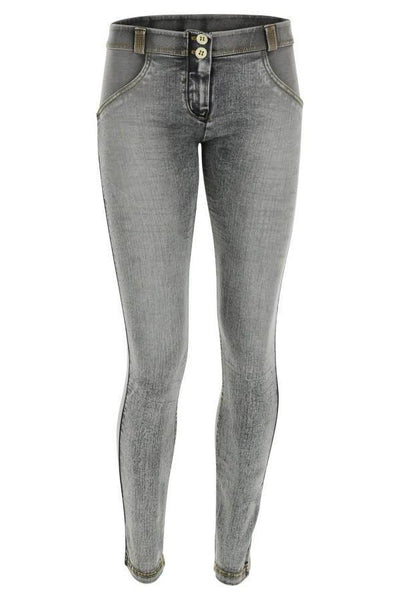 WR.UP® Shaping Jeans Skinny Mid Grey + White Whiskering-Jeans-Freddy-Weightless.no