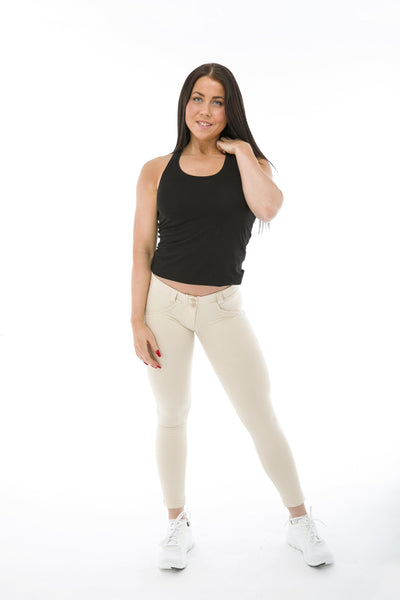 WR.UP® Shaping Pants Petite Low Beige-Pants-Freddy-Weightless.no