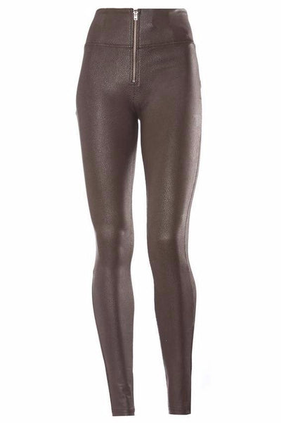 WR.UP® Shaping Pants Skinny High Snake Skin Brown-Pants-Freddy-Weightless.no