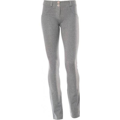 WR.UP® Shaping Pants Straight Low Melange Grey-Pants-Freddy-Weightless.no