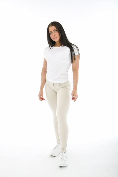 WR.UP® Shaping Pants Super Skinny Mid Beige-Bukser-Freddy-Weightless.no