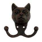 Cast Iron Cat Double Hook