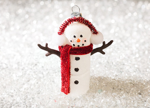 Marshmallow Snowman Ornament