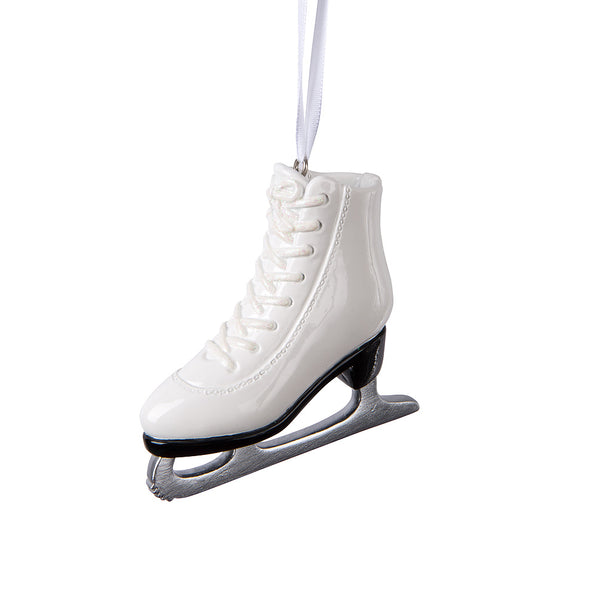 Glossy Figure Skate Ornament