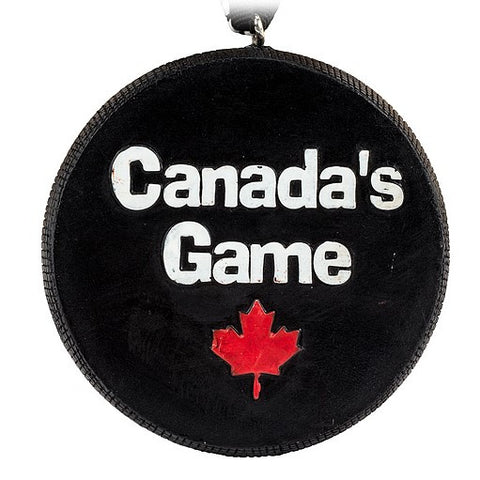 Assorted Hockey Puck Ornaments