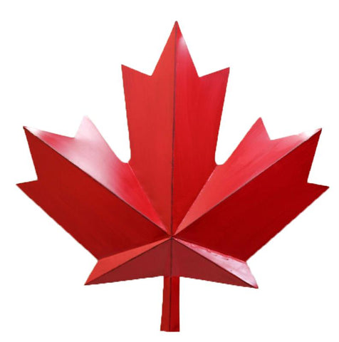 Red Metal Maple Leaf 31""