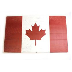 Wooden Canada Flag Sign