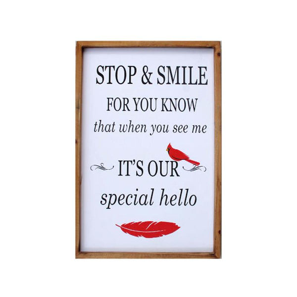 Special Hello Cardinal Decor