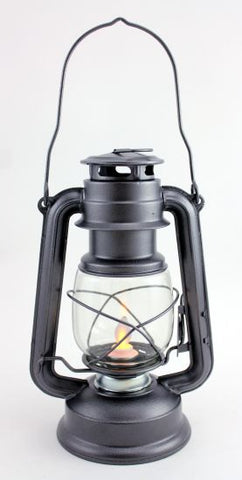 Small Metal Lantern with Realistic Flame