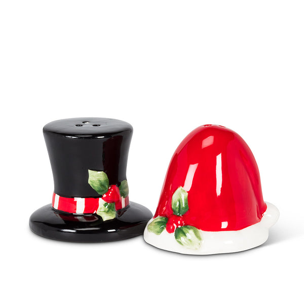 Santa and Snowman Hat Salt and Pepper Shakers