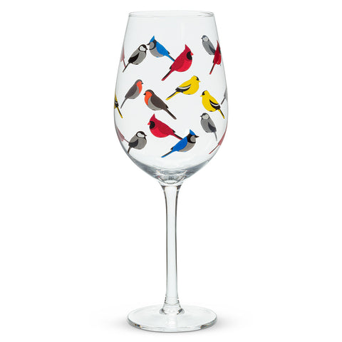 Flock of Birds Wineglass