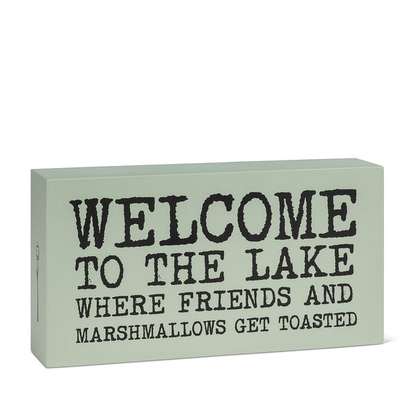 Welcome to the Lake Block Sign