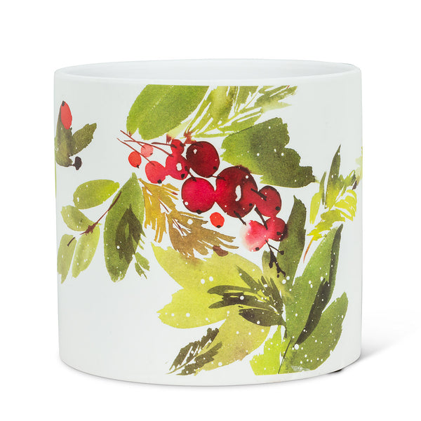 Cranberries and Greenery Planter