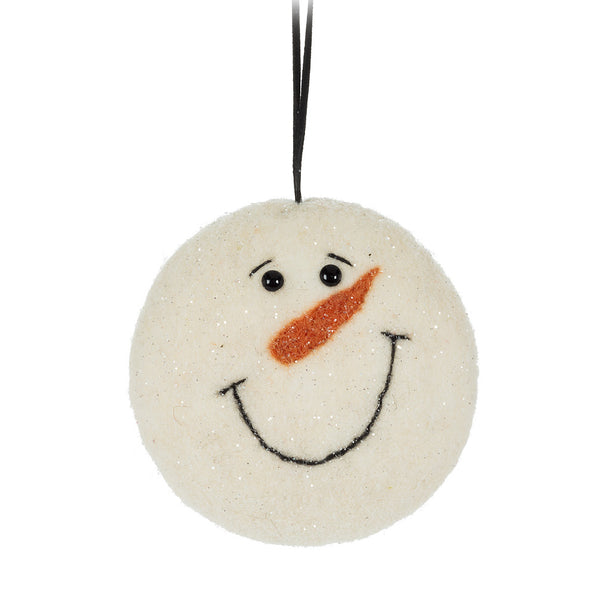 Snowman Head Ornament