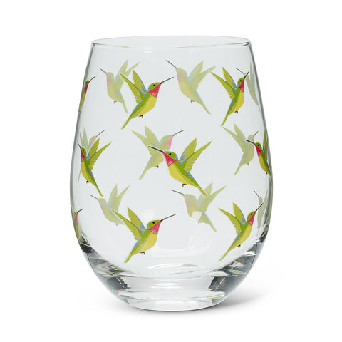 Hummingbird Wineglass