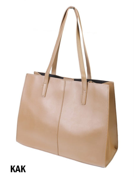 Solid Colour Fashion Tote Bag