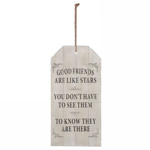 Good Friends Wall Plaque