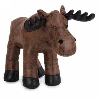 Faux Leather Moose Door Stopper