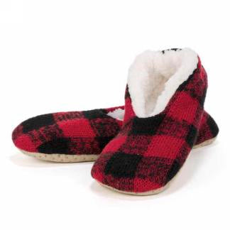 Red & Black Plaid Slippers