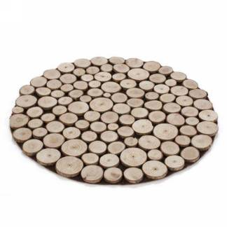 Round Wood Chips Placemat