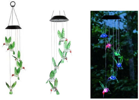Solar Hummingbird Wind Chime