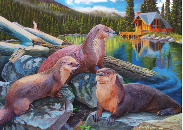 Cobble Hill Puzzle: River Otters