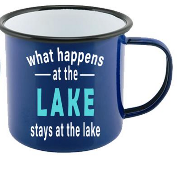 """What Happens at the Lake, stays at the Lake"" Mug"