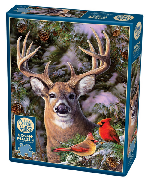 Cobble Hill Puzzle: One Deer Two Cardinals