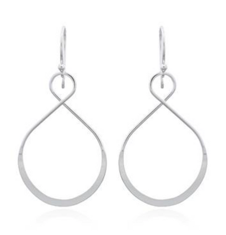 Asymmetrical Infinity Earrings