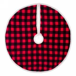 Red and Black Plaid Tree Skirt
