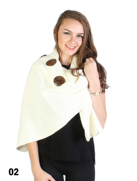 Knitted Cape with Buttons